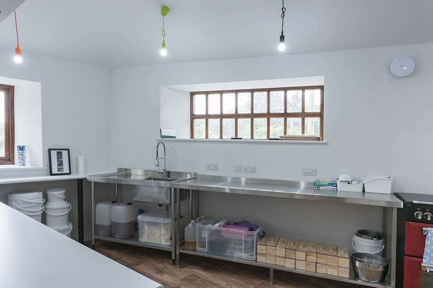 The Soap Dairy kitchen